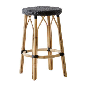 Simone Black Counter Stool