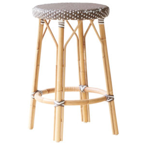 Simone Gray and Cappuccino Counter Stool