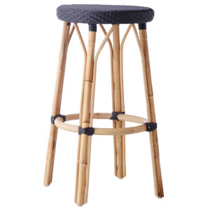 Simone Black Bar Stool