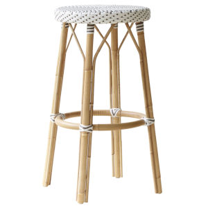 Simone White and Cappuccino Bar Stool