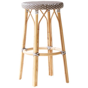 Simone Gray and Cappuccino Bar Stool
