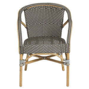 Madeleine Gray and Cappuccino Bistro Arm Chair