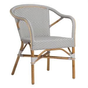 Madeleine White and Gra Bistro Arm Chair