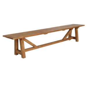 George Natural Brown Outdoor Bench