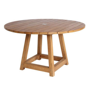 George Natural Brown 47-Inch Outdoor Round Dining Table