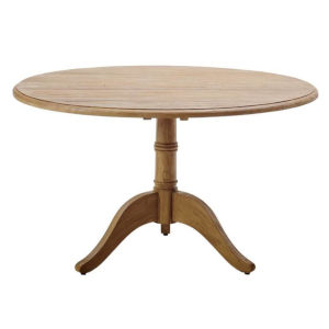 Michel Natural Brown 47-Inch Teak Round Dining Table