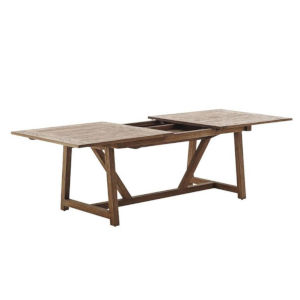 Lucas Natural Brown Extension Dining Table