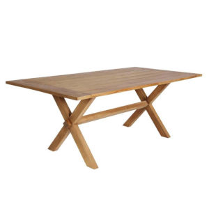 Colonial Natural Brown 79-Inch Outdoor Dining Table