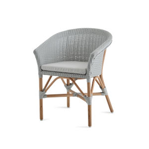 Abbey Light Gray Chair Loom with Sunbrella Sailcloth Seagull Cushion