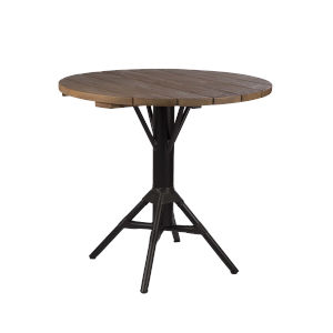 Nicole Café Black Outdoor Table Base with Round Top