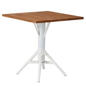 Nicole Café White Outdoor Table Base with Square Top