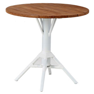 Nicole Café White Outdoor Table Base with Round Top