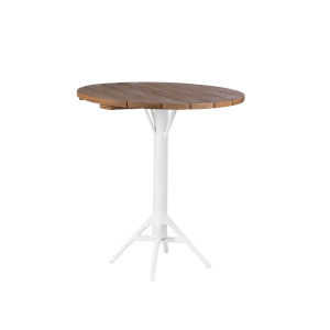 Nicole Bar White 32-Inch Outdoor Table Base with Top