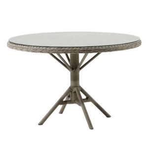 Grace Antique 47-Inch Outdoor Dining Table with Glass Top