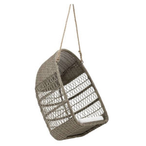 Georgia Garden Antique Outdoor Swing Chair with Polyester Snow Cushion