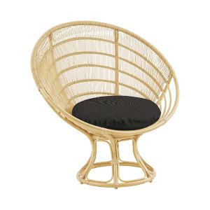 Franco Albini Natural Exterior Sunchair with Sunbrella Sailcloth Shade Cushion