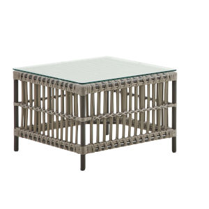 Caroline Moccachino Outdoor Side Table with Glass Top