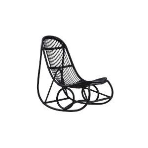 Nanna Ditzel Black Rocking Chair