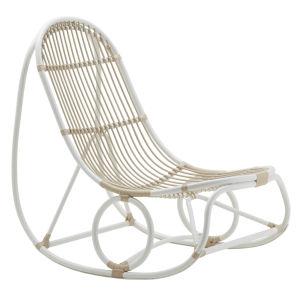 Nanna Ditzel Dove White Outdoor Rocking Chair