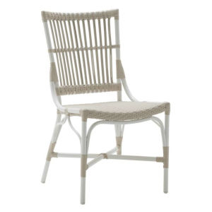 Piano Dove White Outdoor Side Chair
