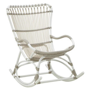 Monet Dove White Outdoor Rocking Chair