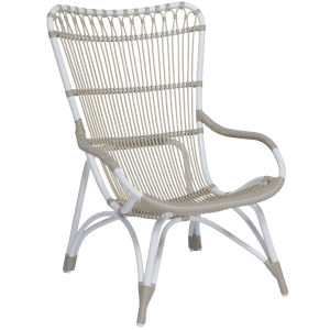 Monet Dove White Outdoor Highback Chair