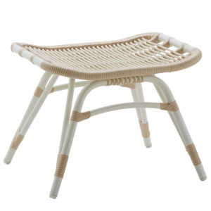 Monet Dove White Outdoor Stool