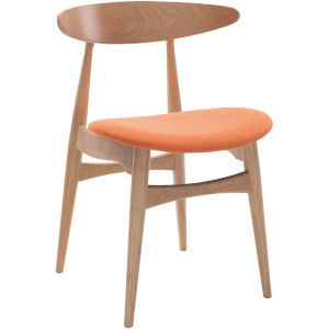Kaia Tangerine on Natural Oak Dining Chair