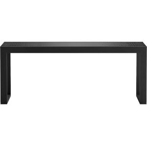 Hanover Black Crocco Reclaimed Leather 79-Inch Console Table