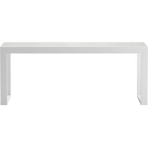 Hanover White Crocco Reclaimed Leather 79-Inch Console Table