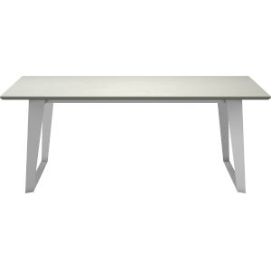 Amsterdam White Sand Concrete 79-Inch Outdoor Dining Table