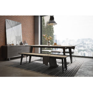 Amsterdam Gray Concrete 79-Inch Dining Table