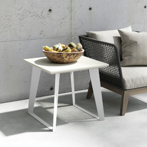 Amsterdam White Sand Concrete Side Table
