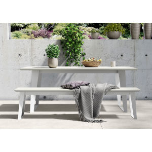 Amsterdam White Sand Concrete Outdoor Bench