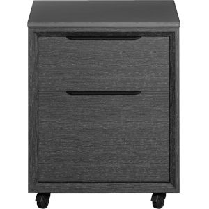 Amsterdam Gray Oak Mobile File Cabinet