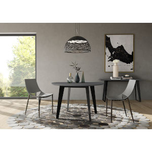 Amsterdam Gray Concrete 47-Inch Dining Table