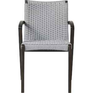 Verge Light Gray Cord Outdoor Dining Chair