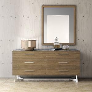 Broome Latte Walnut Mirror