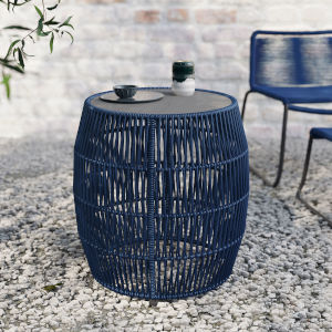 Volta Blue Cord Outdoor Accent Table