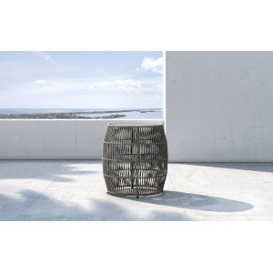 Volta Gray Cord Outdoor Accent Table