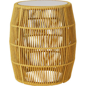 Volta Curry Yellow Cord Outdoor Accent Table