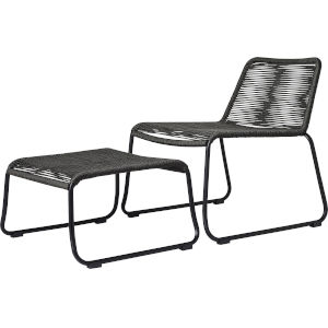 Barclay Dark Gray Cord Outdoor Lounge Chair