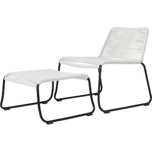 Barclay White Cord Outdoor Lounge Chair