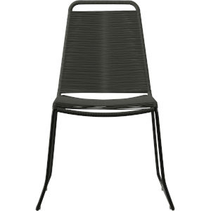 Barclay Dark Gray Cord Outdoor Dining Chair
