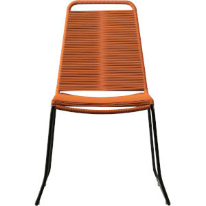 Barclay Orange Cord Outdoor Dining Chair