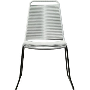 Barclay White Cord Outdoor Dining Chair