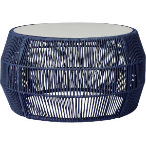Volta Blue Cord Outdoor Cocktail Table