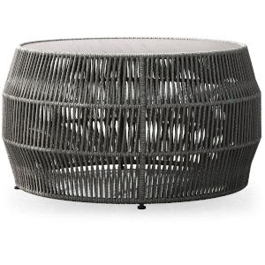 Volta Gray Cord Outdoor Cocktail Table