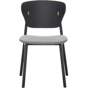 Emi Black Oak and Andorra Wool Dining Chair
