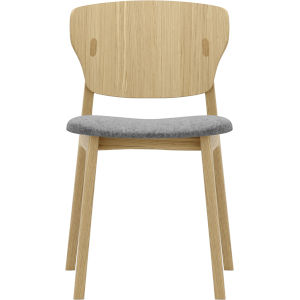 Emi Natural Oak and Andorra Wool Dining Chair